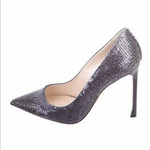 f7758a343 Christian Dior 35 Ombre Sequin Pointed Toe Pumps